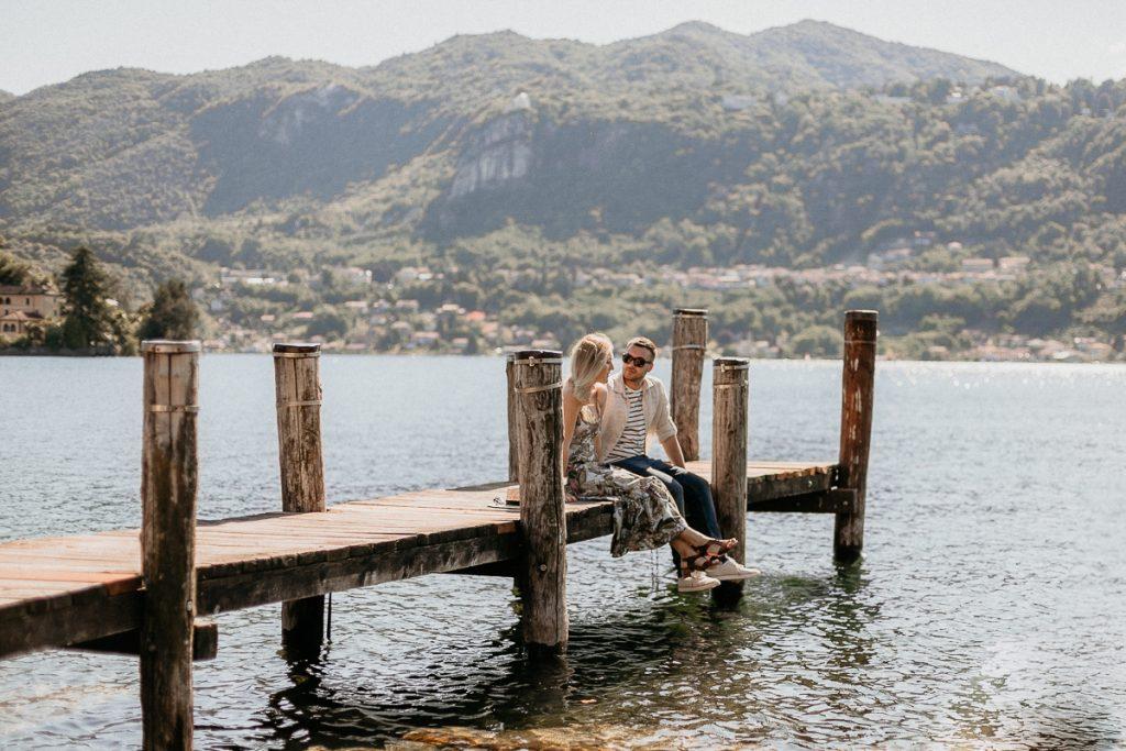 Servizio prematrimoniale di coppia sul lago d'Orta - Andrea e Maja